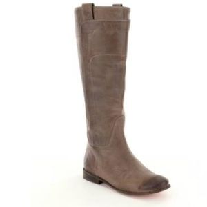 Frye Paige Tall Riding Boots - Gray Leather